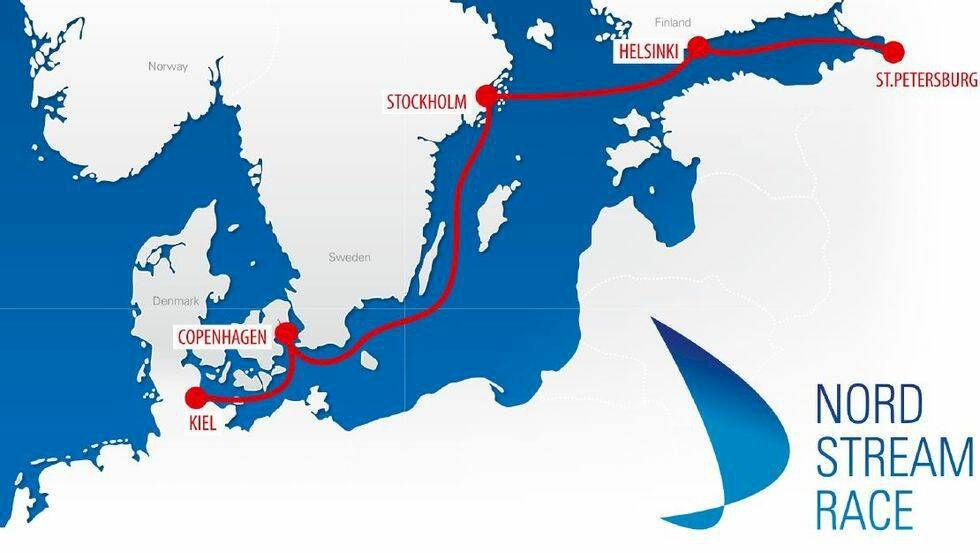 Sverige leder havskappseglingen Nord Stream Race