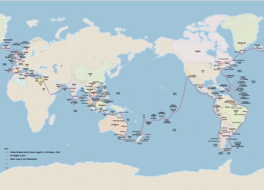 Nu finns chansen att åka på världens längsta kryssning