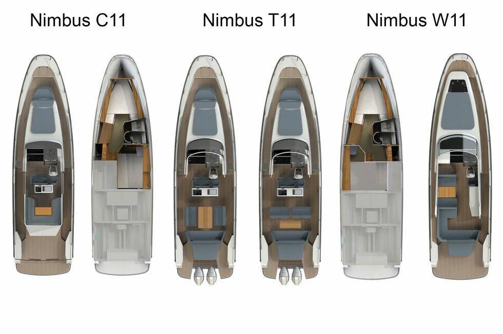 Nya modellserien från Nimbus kan bära 1 050 hästar på akterspegeln