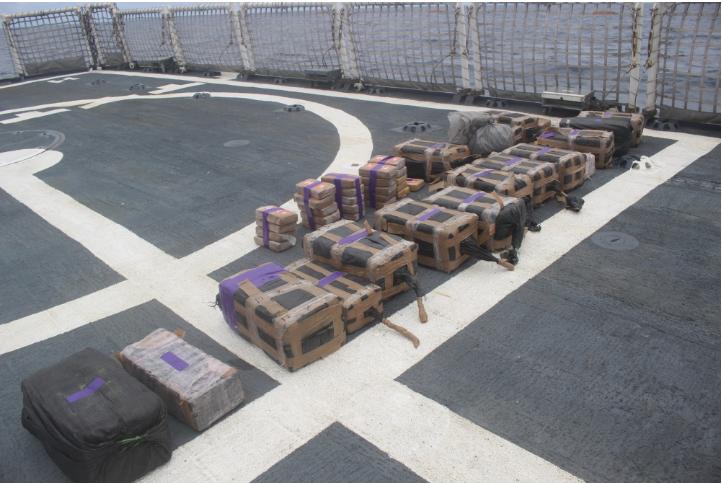 Kustbevakningen tog kokain för 1,7 miljarder