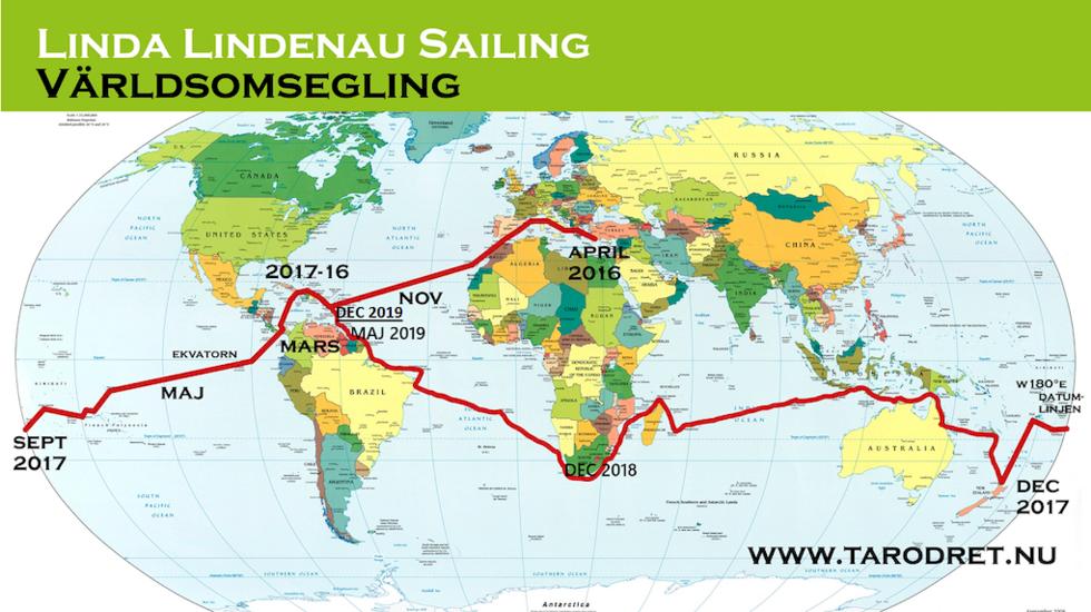 Linda Lindenau slutför sin – och 250 andra kvinnors – segling jorden runt.