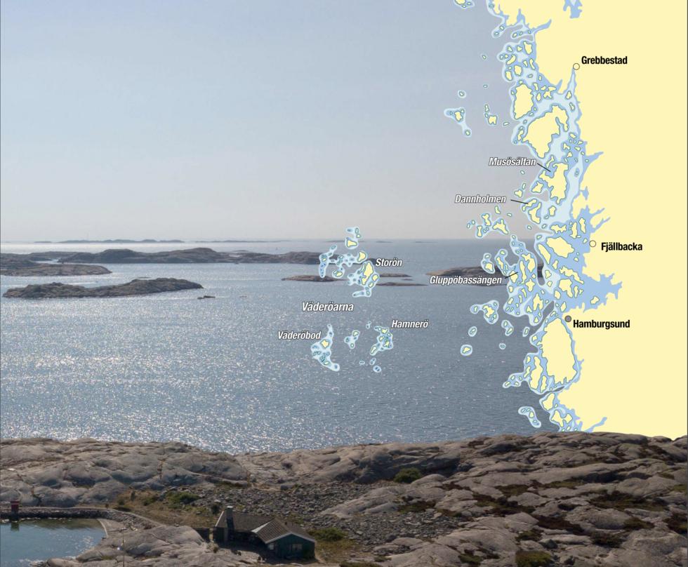 RESMÅL: Slät granit och turkosa vatten