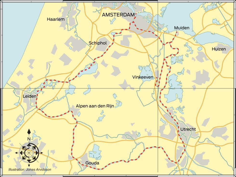 Resmål: Mot Hollands hjärta