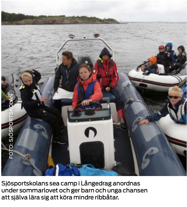 Lär barnen segla och köra båt!