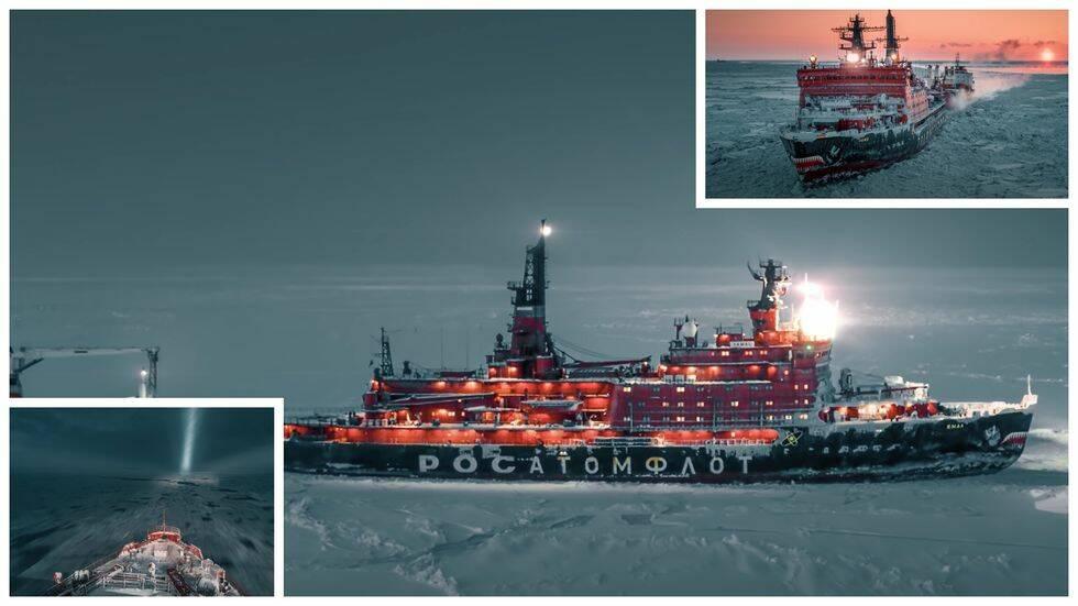Åk till Nordpolen med atomkraft – 75 000 hästkrafters rysk isbrytare