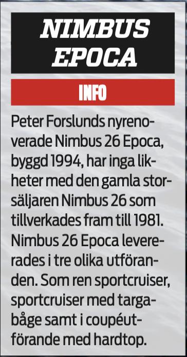 REPORTAGE: Att renovera en Nimbus Epoca 26