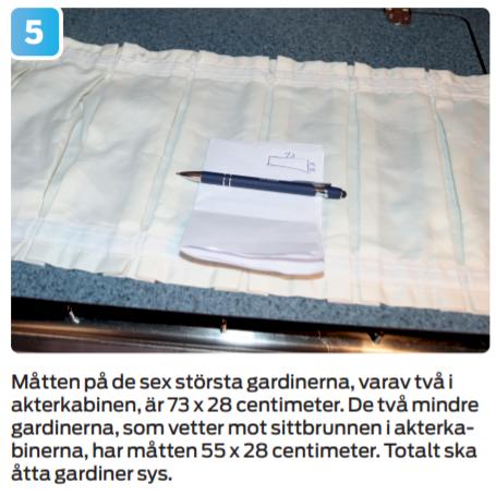Guide: Så syr du gardiner till båten