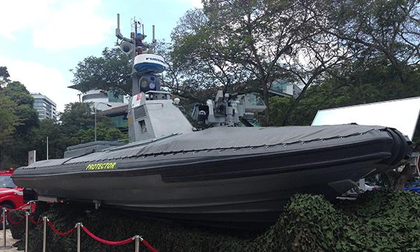 TV: Protector USV - den radiostyrda stridsbåten