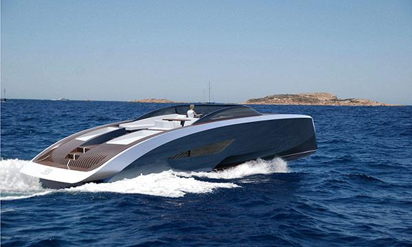 Bugattis nya lyxbåt byggs i rymdmaterial