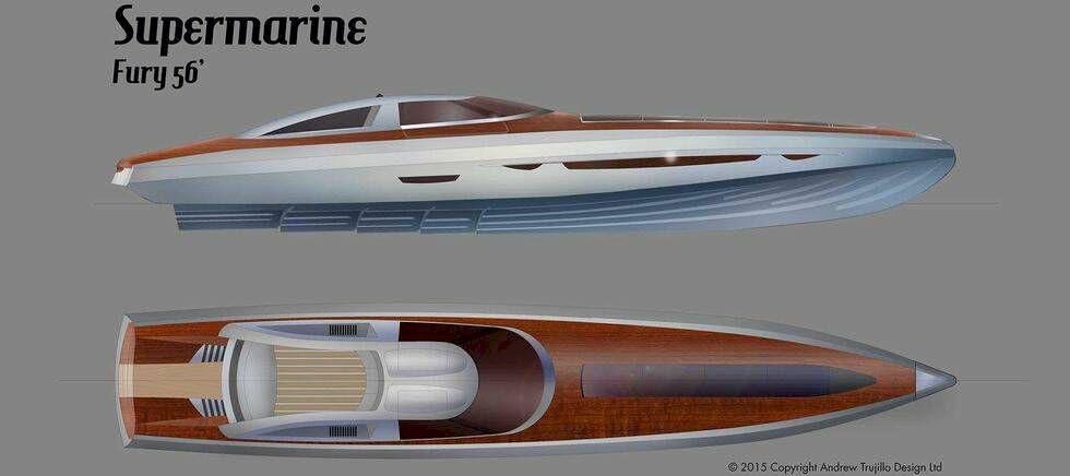 Havets superbil har måsvingedörrar och mahognydäck