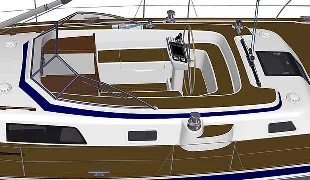 Här är Hallberg Rassys första nya båt på fyra år