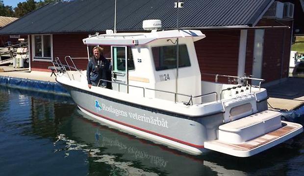 Här kör nya veterinärbåten i sommar