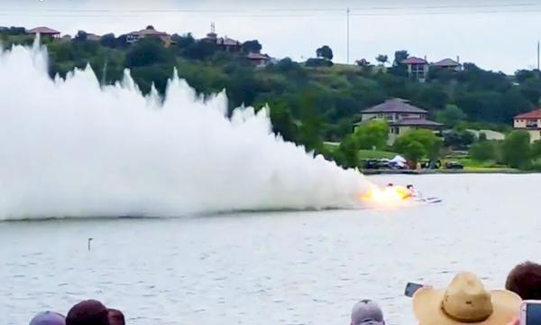 TV: Här kraschar dragracebåten i 208 knop