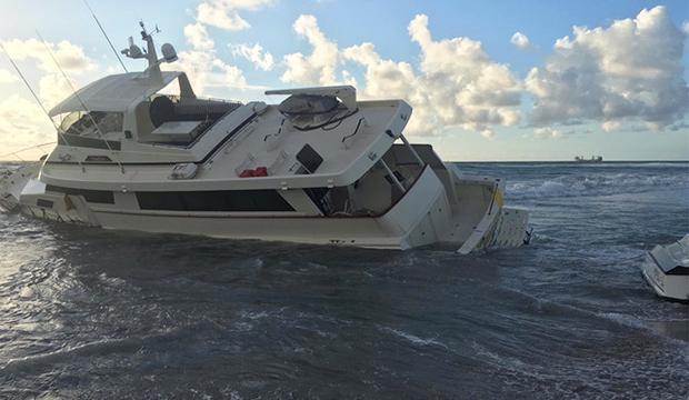 TV: Full skeppare missade hamninloppet – körde lyxbåt upp på strand