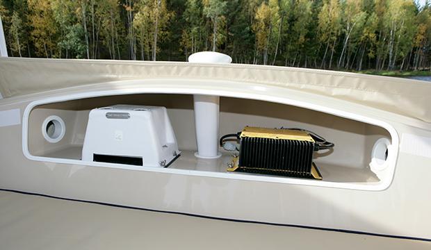Här är båten med teknik från en golfbil