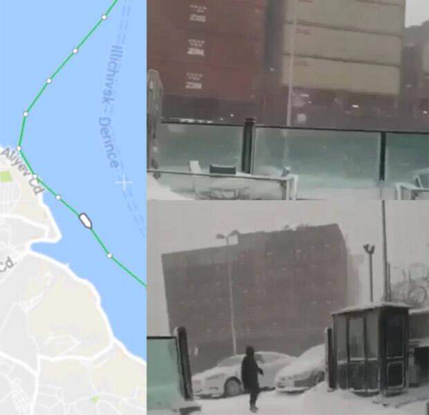 TV: Här kör lastfartyget vilse i snöstormen