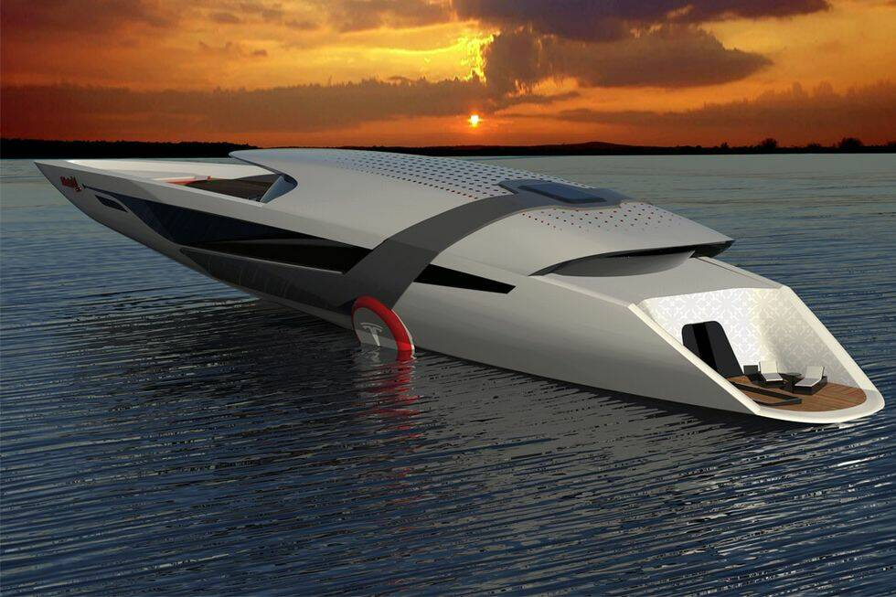 Bilder: Så ser Tesla ut som båt