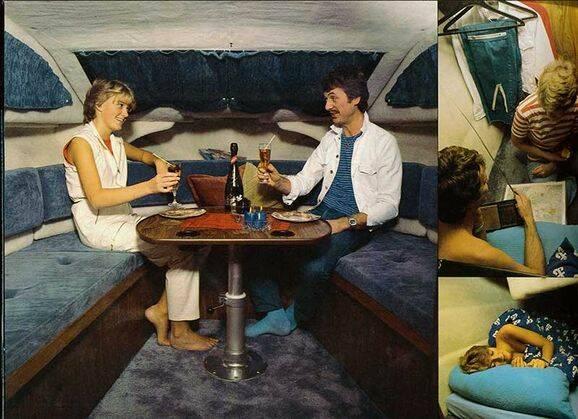 Bilder: Så mysigt hade man i båten på 70-talet